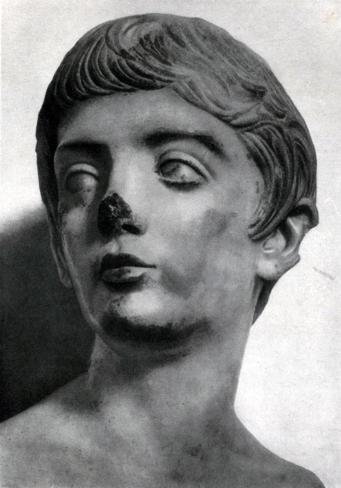 277. Портрет юноши времени Флавиев. Мрамор. Конец 1 в. н. э. Лондон. Британский музей.